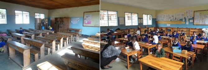Korongoni kindergarten before and after 2
