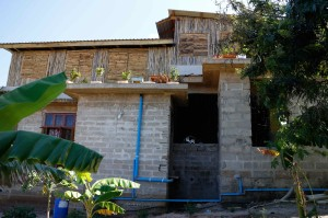 Volounteers' accommodation premises have been made out from bamboo.