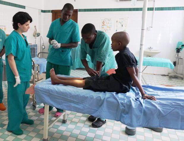 Medical volunteer at Mbweni hospital