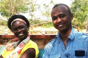 Bryan met with Helga Mutasingwa, a local volunteer, in Art in Tanzania campus in Madale. They both have recently graduated from university.