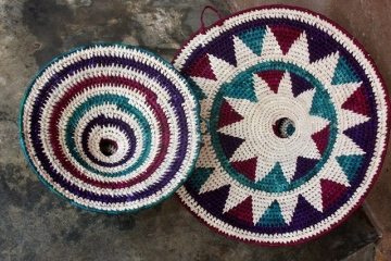 Uzi baskets made by women's group