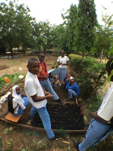 Gardening club at Twiga Secondary School