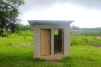 Toilet facilities built by volunteers
